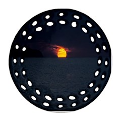 Sunset Ocean Azores Portugal Sol Ornament (round Filigree)