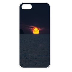 Sunset Ocean Azores Portugal Sol Apple Iphone 5 Seamless Case (white)