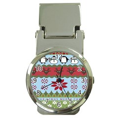 Ugly Christmas Xmas Money Clip Watches by Nexatart