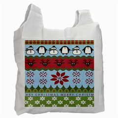 Ugly Christmas Xmas Recycle Bag (two Side)
