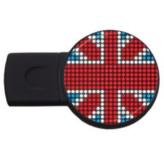 The Flag Of The Kingdom Of Great Britain Usb Flash Drive Round (4 Gb)