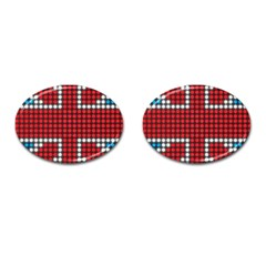 The Flag Of The Kingdom Of Great Britain Cufflinks (oval) by Nexatart