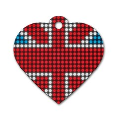 The Flag Of The Kingdom Of Great Britain Dog Tag Heart (one Side)