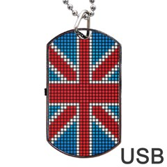 The Flag Of The Kingdom Of Great Britain Dog Tag Usb Flash (two Sides) by Nexatart