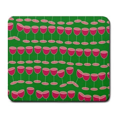 Wine Red Champagne Glass Red Wine Large Mousepads by Nexatart