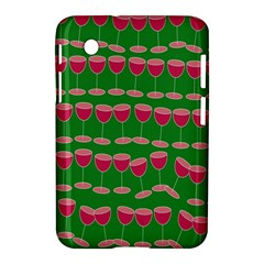 Wine Red Champagne Glass Red Wine Samsung Galaxy Tab 2 (7 ) P3100 Hardshell Case