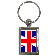 Union Jack Flag Key Chains (rectangle)  by Nexatart