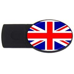 Union Jack Flag Usb Flash Drive Oval (4 Gb)