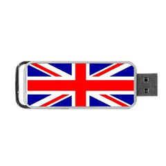 Union Jack Flag Portable Usb Flash (one Side) by Nexatart