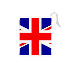 Union Jack Flag Drawstring Pouches (small)