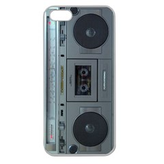 Vintage Tape Recorder Apple Seamless Iphone 5 Case (clear)