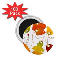 Vector Beautiful Maple Leaf 1 75  Magnets (100 Pack)  by Nexatart