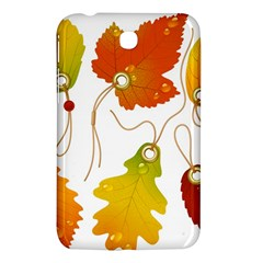 Vector Beautiful Maple Leaf Samsung Galaxy Tab 3 (7 ) P3200 Hardshell Case  by Nexatart