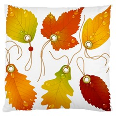 Vector Beautiful Maple Leaf Large Flano Cushion Case (two Sides) by Nexatart