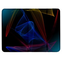Lines Rays Background Light Pattern Samsung Galaxy Tab 7  P1000 Flip Case
