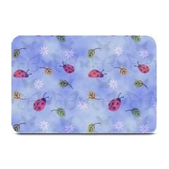 Ladybug Blue Nature Plate Mats by Nexatart