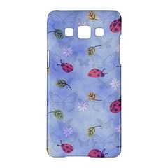 Ladybug Blue Nature Samsung Galaxy A5 Hardshell Case  by Nexatart