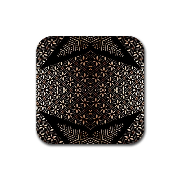 Art Background Fabric Rubber Square Coaster (4 pack)