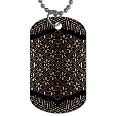 Art Background Fabric Dog Tag (two Sides)
