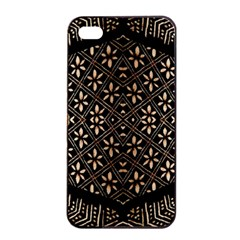 Art Background Fabric Apple Iphone 4/4s Seamless Case (black)