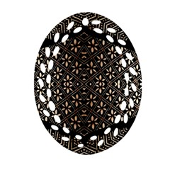 Art Background Fabric Oval Filigree Ornament (two Sides) by Nexatart