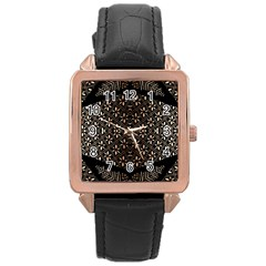 Art Background Fabric Rose Gold Leather Watch