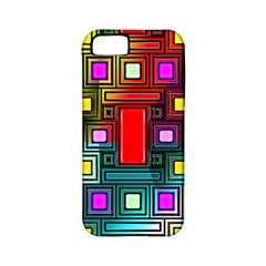 Art Rectangles Abstract Modern Art Apple Iphone 5 Classic Hardshell Case (pc+silicone)