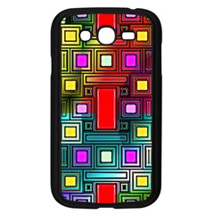 Art Rectangles Abstract Modern Art Samsung Galaxy Grand Duos I9082 Case (black)