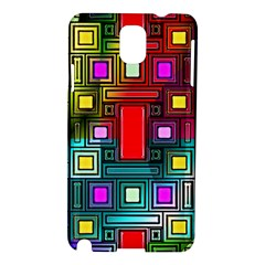 Art Rectangles Abstract Modern Art Samsung Galaxy Note 3 N9005 Hardshell Case