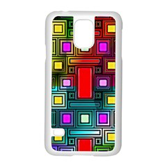 Art Rectangles Abstract Modern Art Samsung Galaxy S5 Case (white)