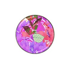 Abstract Flowers Digital Art Hat Clip Ball Marker