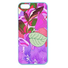 Abstract Flowers Digital Art Apple Seamless Iphone 5 Case (color)