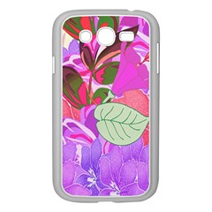 Abstract Flowers Digital Art Samsung Galaxy Grand Duos I9082 Case (white)