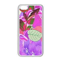 Abstract Flowers Digital Art Apple Iphone 5c Seamless Case (white) by Nexatart