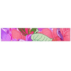 Abstract Flowers Digital Art Flano Scarf (large)