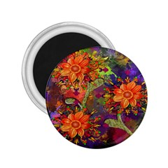 Abstract Flowers Floral Decorative 2 25  Magnets by Nexatart