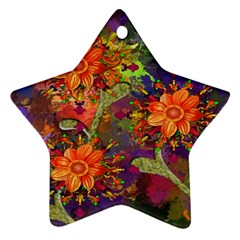 Abstract Flowers Floral Decorative Ornament (star) by Nexatart