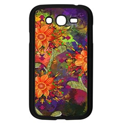 Abstract Flowers Floral Decorative Samsung Galaxy Grand Duos I9082 Case (black)