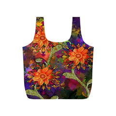 Abstract Flowers Floral Decorative Full Print Recycle Bags (s)