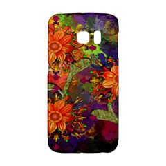Abstract Flowers Floral Decorative Galaxy S6 Edge by Nexatart
