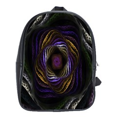 Abstract Fractal Art School Bags(large)  by Nexatart
