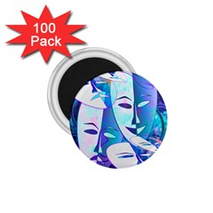 Abstract Mask Artwork Digital Art 1 75  Magnets (100 Pack)
