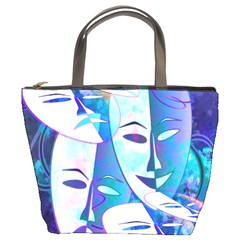 Abstract Mask Artwork Digital Art Bucket Bags by Nexatart
