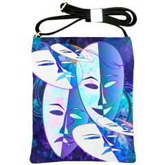 Abstract Mask Artwork Digital Art Shoulder Sling Bags by Nexatart