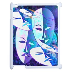 Abstract Mask Artwork Digital Art Apple Ipad 2 Case (white) by Nexatart