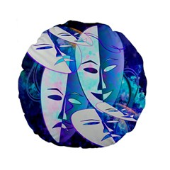 Abstract Mask Artwork Digital Art Standard 15  Premium Flano Round Cushions by Nexatart