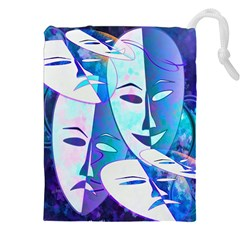 Abstract Mask Artwork Digital Art Drawstring Pouches (xxl)