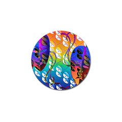 Abstract Mask Artwork Digital Art Golf Ball Marker (10 Pack)