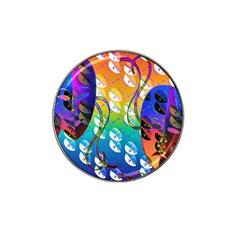Abstract Mask Artwork Digital Art Hat Clip Ball Marker (10 Pack) by Nexatart