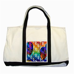 Abstract Mask Artwork Digital Art Two Tone Tote Bag